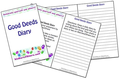 good deeds diary